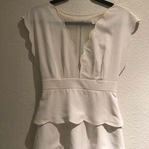 Cooperative Dresses - Urban Outfitters scalloped white dress